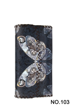Women Ethnic Pattern Leatherette Wallet HB0582 - NO.103