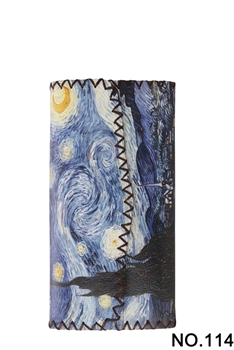 Starry Night Printed Wallet HB0582 - NO.114