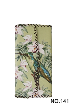 Floral Woodpecker Printed Wallet HB0582 - NO.141