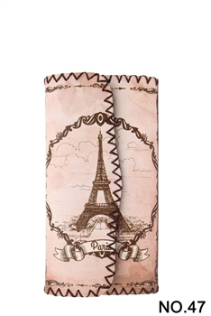 Eiffel Tower Embroidery Culture Wallet HB0582 - NO.47
