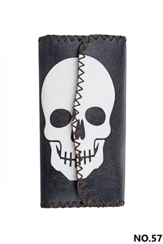 Skull Ethnic Pattern Leatherette Wallet HB0582 - NO.57