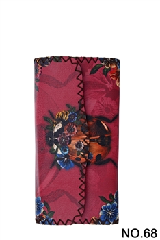 Beetle Pattern Leatherette Wallet HB0582 - NO.68