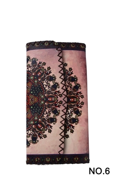 Ethnic Printed Wallet HB0582 -NO.6 PK
