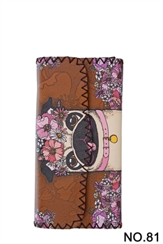 Women Ethnic Pattern Leatherette Wallet HB0582 - NO.81BR