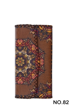 Ethnic Pattern Leatherette Wallet HB0582 - NO.82BR