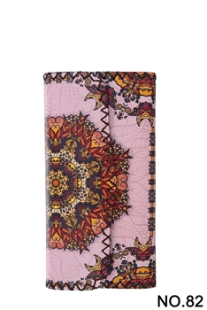 Ethnic Pattern Leatherette Wallet HB0582 - NO.82PK