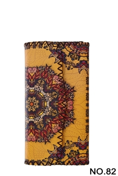 Ethnic Pattern Leatherette Wallet HB0582 - NO.82YW