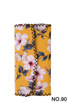 Flower Printed Wallet HB0582 - NO.90YW