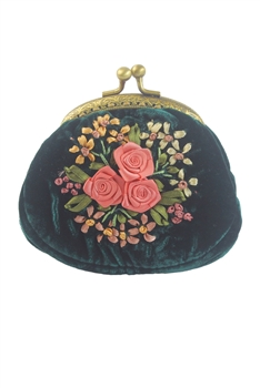 Classic Women Mini Cotton Floral Printed Purse HB0591