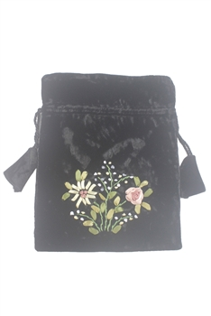 Embroidery Floral Velvet Handbags HB0592