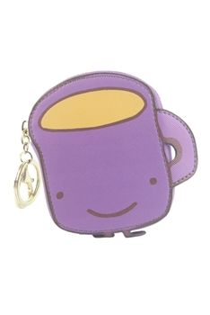 Cute Lovely Leather Purple Cartoon Coin Wallet HB0596