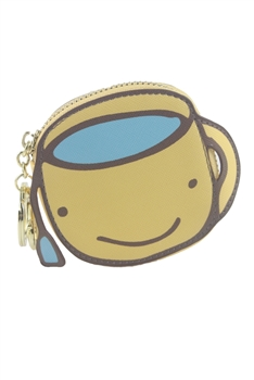Lovely Leather Yellow Cartoon Coin Purse HB0597