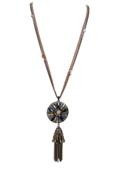 Vintage Decorated Tassel Design Necklace N2852