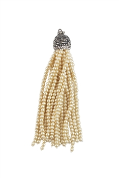 Crystal Pearl Long Tassel Necklace Pendant N3017