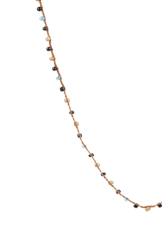 Women Tiny Beads Necklaces for Pendant N3066-32 INCHES - Brown