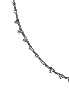 White Beads Necklaces for Pendant N3068-18INCHES - Grey