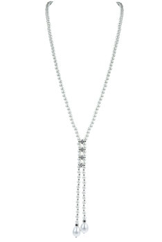Women White Fresh Pearls Long Necklaces N3105