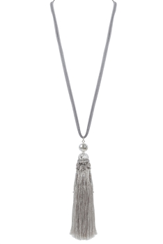 Fashion Women Tassel Long Necklaces N3113 - Silver