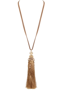 Fashion Women Tassel Long Necklaces N3113 - Gold