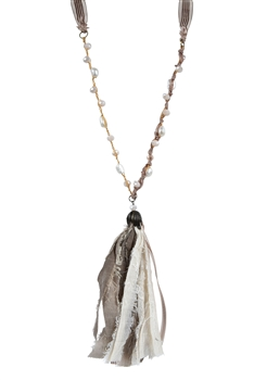 Fashion Pearls Tassel Long Necklaces N3115 - Champagne