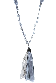 Fashion Pearls Tassel Long Necklaces N3115 - Grey