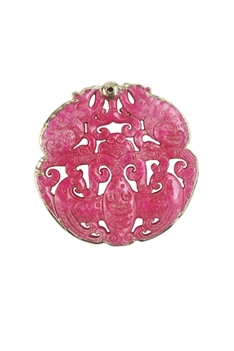 Chinese Mascot Dragon Necklace Pendants P0004 - Pink