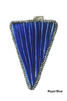 Fashion Coral Shell Statement Pendants P0113 - Royal Blue