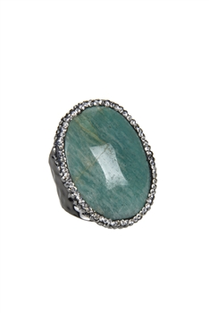 Hot Selling Natural Single Stone Agate Rings R1420