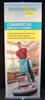 Service Master Commercial Specialty Cleaning Banner Stand