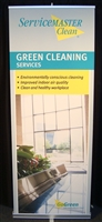 Service Master Go Green Banner Stand