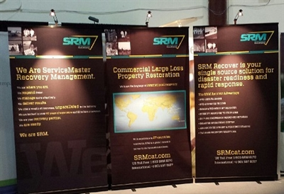 SRM Recovery Management Bannerstand Trio