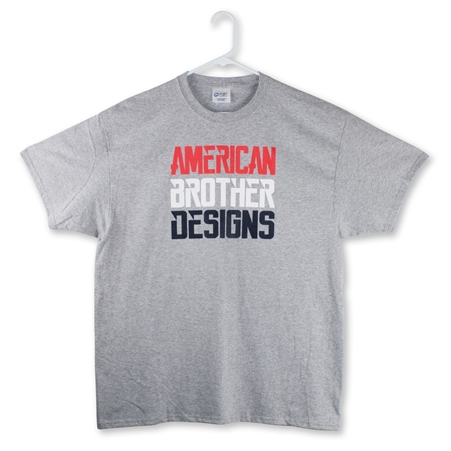 Slant t-shirt (Athletic Gray/RWB)