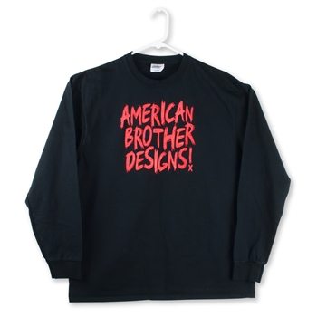 Scribble Long Sleeve Shirt (Black/Red)