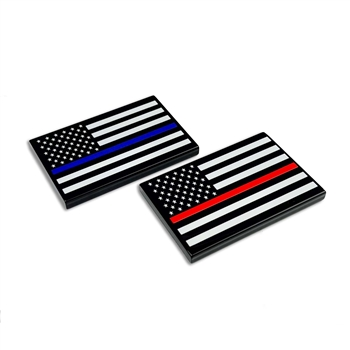 Billet American Flag Badge (set of 2)