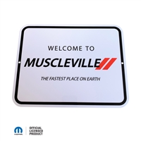 "Muscleville Sign 8.5""x11"""