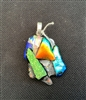 Abstract Dichroic Glass Pendant