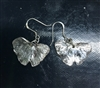 Patinated Gingko Earrings