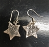 Patinated Silver Star Earrings