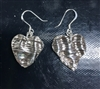 Fine Silver Textured Heart Earrings