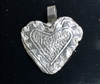 Fine Silver Heart within a Heart Pendant