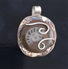 Ammonite Fossil in Fine Silver