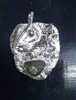 Fine Silver Freeform Pendant with Beach Glass
