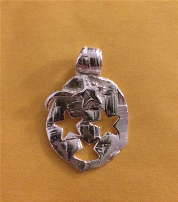Fine Silver Unique Abstract Pendant