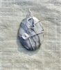Sterling Silver Wire Wrapped Grey Marble