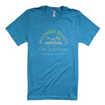 Moomba No Worries Tee - Aqua
