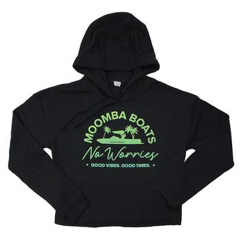 Moomba Ladies Cropped Hoodie - Black