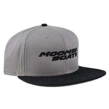Moomba Flat Bill Pro Cap - Grey / Black