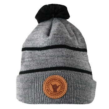 Moomba Patch Beanie - Heathered Grey