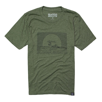 Supra Sketch Tee - Heather Army