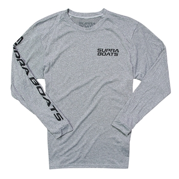 Supra LS Performance Sun Tee - Heather Grey